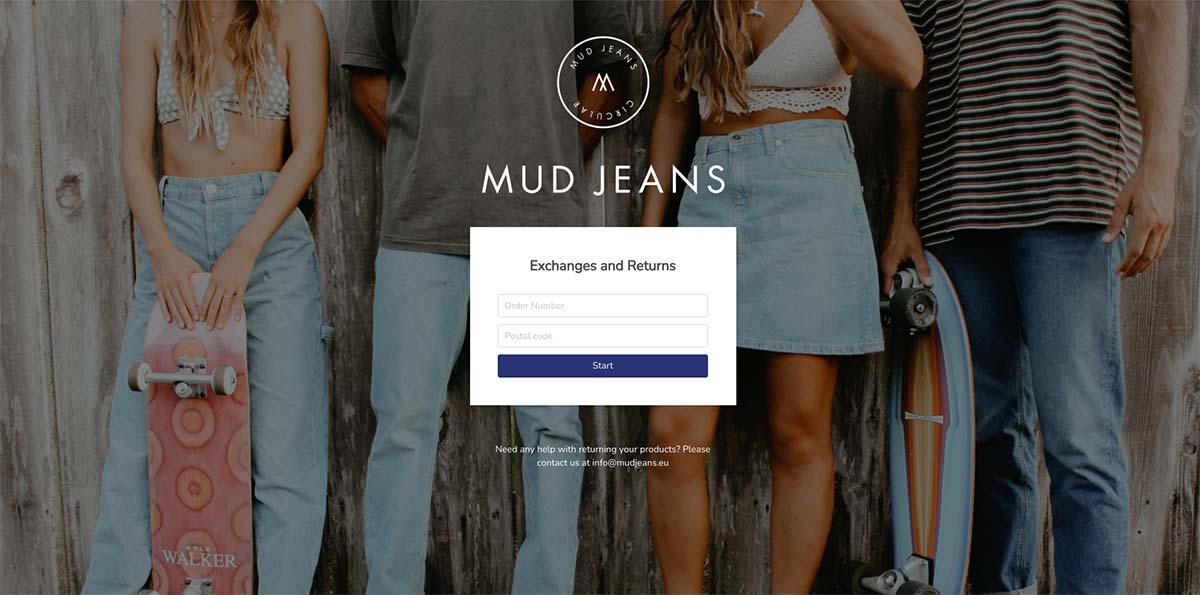 Screenshot MUD Jeans RMA