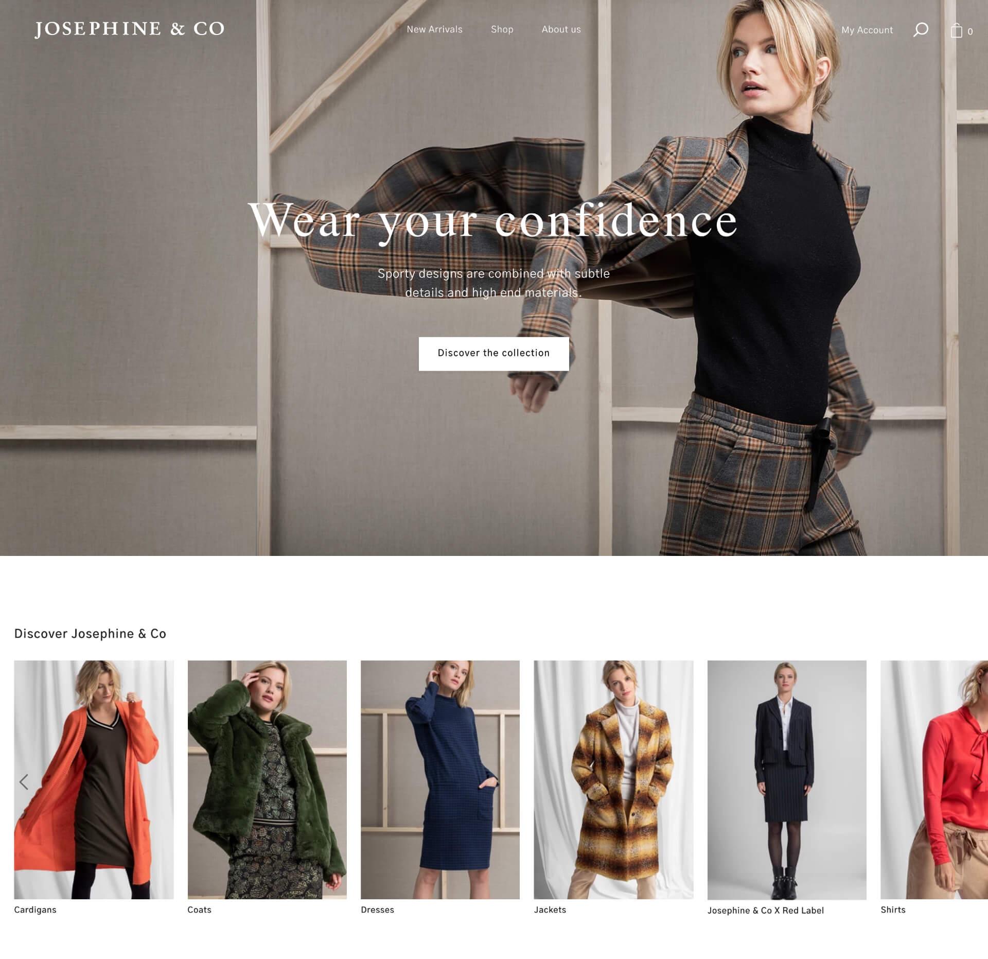 Case: Josephine & Co op Shopify
