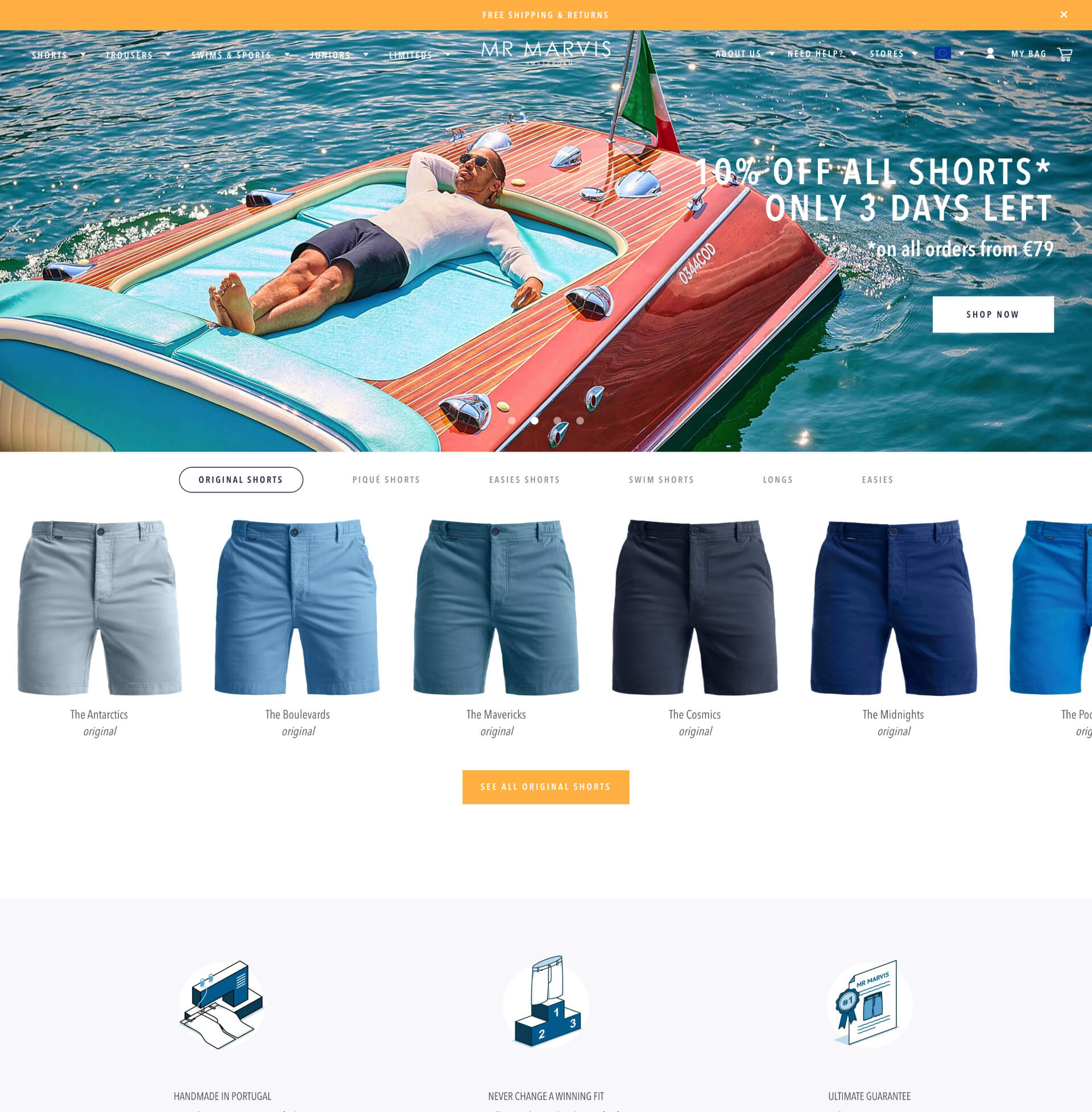 MR MARVIS webshop on Shopify Plus