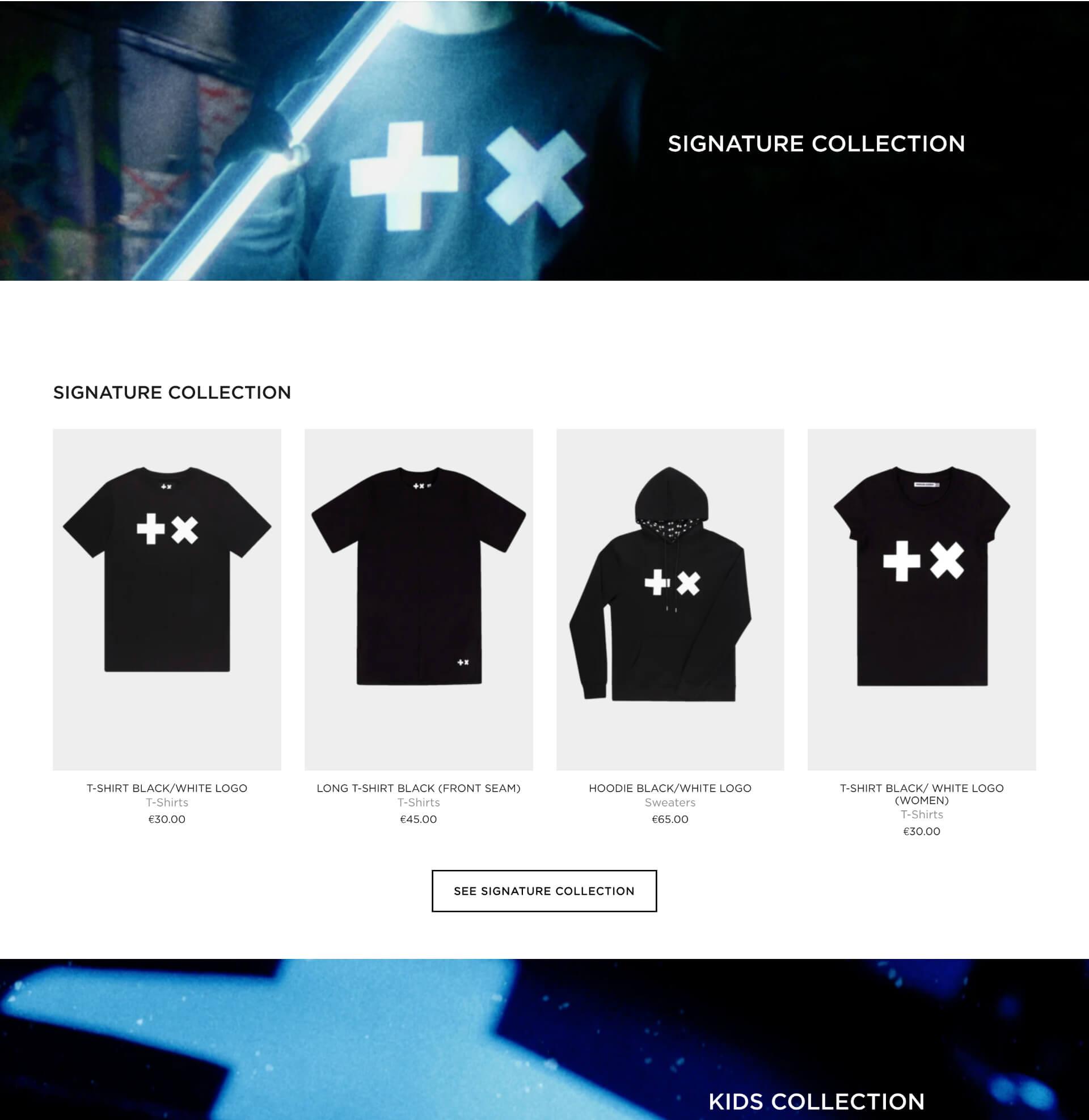 Martin Garrix website in Shopify