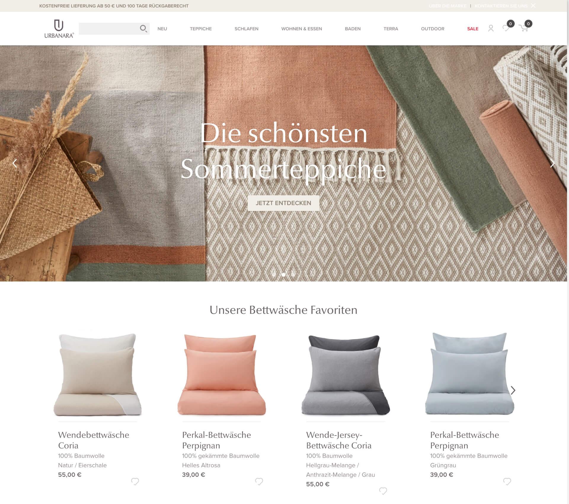 Shopify Plus webshop for URBANARA