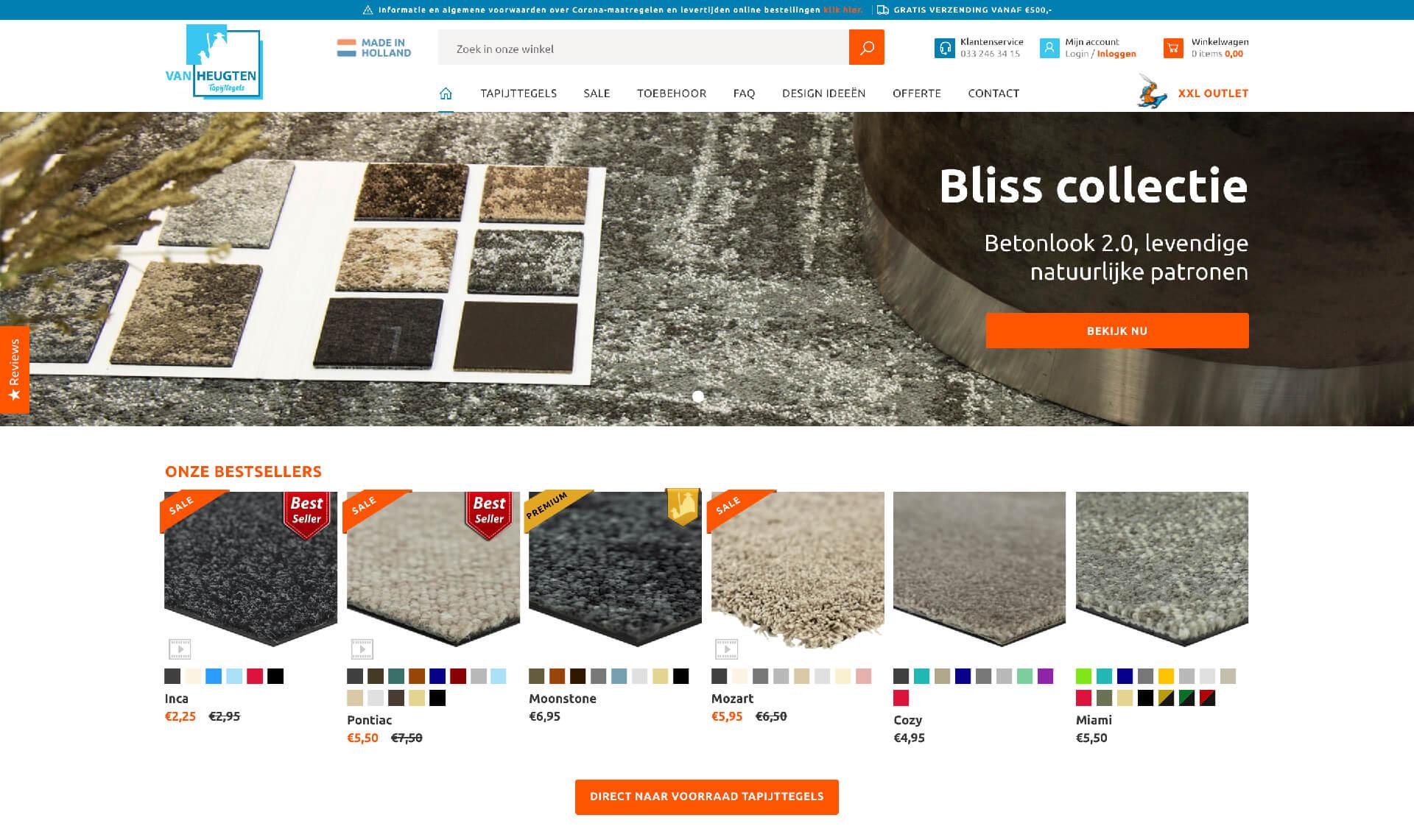 Van Heugten tapijttegels | Code
